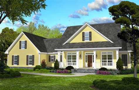 classic country style home plan hz architectural designs house plans
