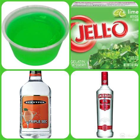 vodka jello kamakazi jello shots 1 package lime jell o 1 cup boiling water 1 4 cup cold water 1 2 cup triple