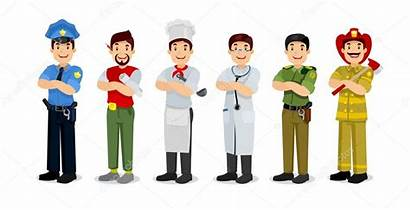 Occupation Clipart Cartoon Profession Career Doctor Firefighter