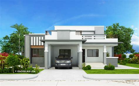 bedroom modern house design  wide roof deck