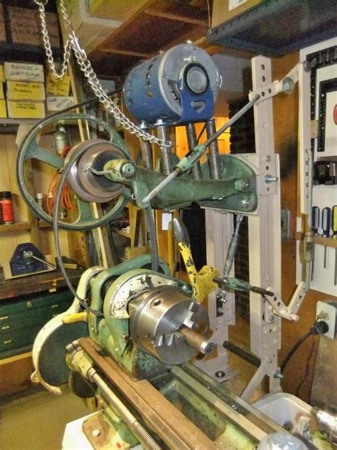 convert electric motor  power    lathe