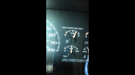 chevy tahoe fuel gauge needle shake youtube