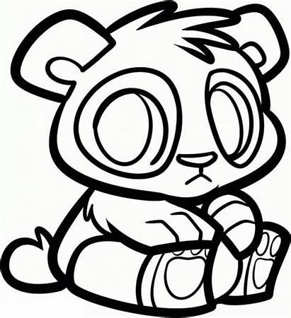Panda Coloring Pages Cartoon Drawing Printable Pandas