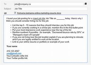 email template for successful online job applications With email to apply for a job