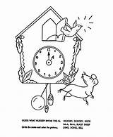Nursery Coloring Rhymes Hickory Dickory Dock Quiz Goose Mother Rhyme Bluebonkers Colouring Sheets Printable Children Cartoon Special Learners Songs sketch template