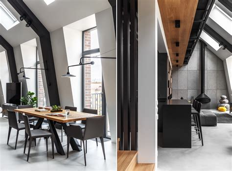2 Gorgeous Attic Apartments That Use Grey As Base by 2 Gorgeous Attic Apartments That Use Grey As Base