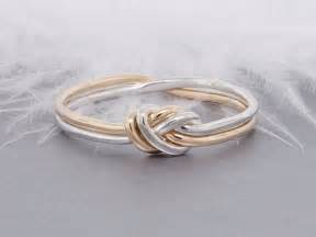 nautical engagement ring knot ring gold and silver ring promise ring commitment ring engagement ring nautical