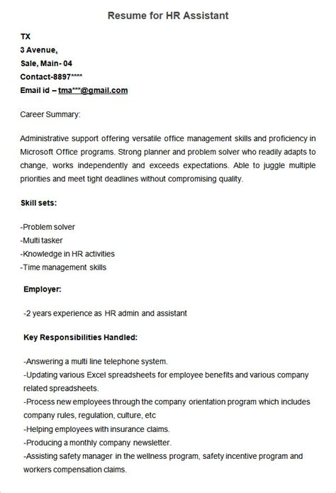 sle resume for human resources manager tomyumtumweb