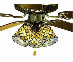 Meyda tiffany fishscale fan light shade