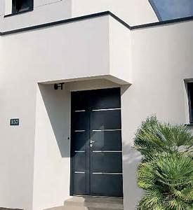stunning maison moderne menuiserie blanche ideas awesome With porte d entrée alu avec meuble de salle de bain en teck belgique