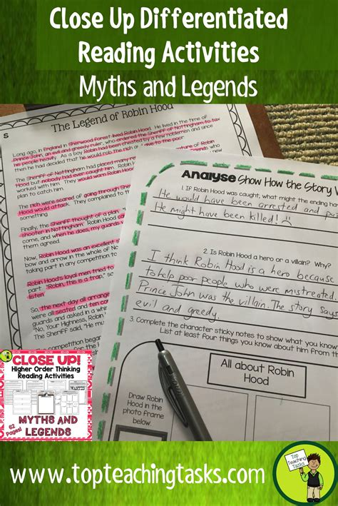 myths  legends traditional literature comprehension