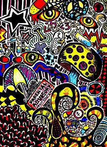 trippy art drawings