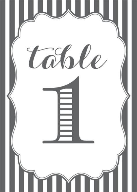striped table numbers  fun   wedding table