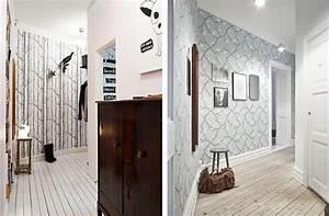 idee papier peint couloir With nice couleur pour un couloir 3 deco couloir peinture couleur rangements cate maison