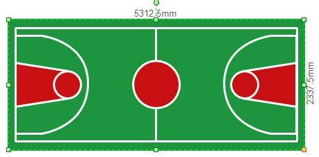 symbols  floor plan athletic field