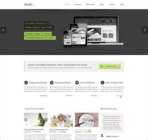 Avada Theme How To Custom Templates From 4 To 5 by 30 Professional Business Themes