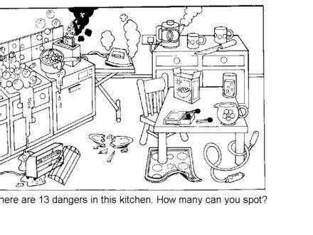 printables kitchen safety worksheets gozoneguide
