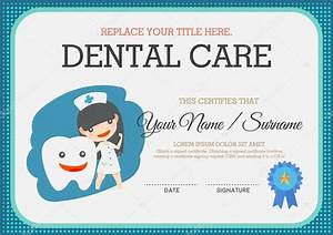 dental care certificate suitable for young children With dental gift certificate template