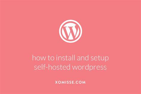 setup  install  hosted wordpress   easy