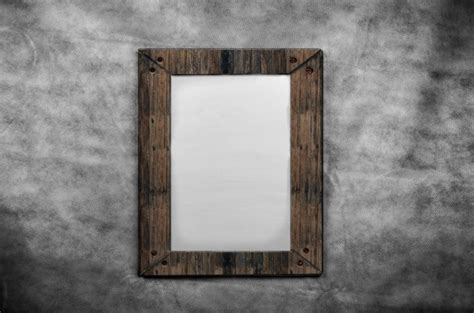 Blank Canvas   Wooden Frames  Stock Photo