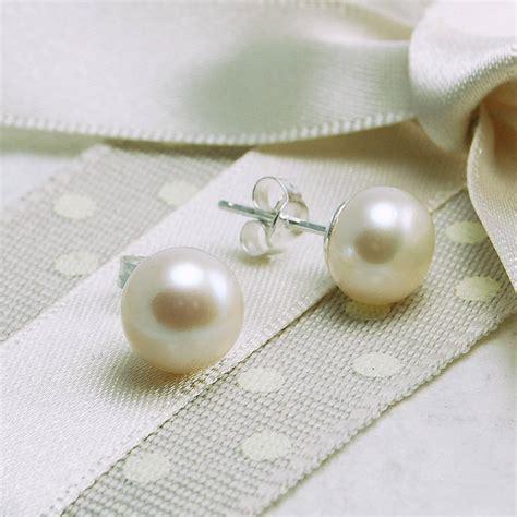 freshwater pearl stud earrings  highland angel