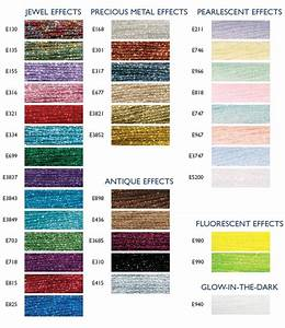 Mill Hill Beads Color Chart Dmc Light Effects List Of Colors Color Threads Dmc