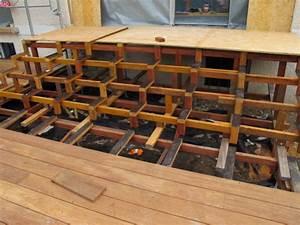 Escalier Terrasse Bois : mise en oeuvre terrasse en bois ~ Nature-et-papiers.com Idées de Décoration