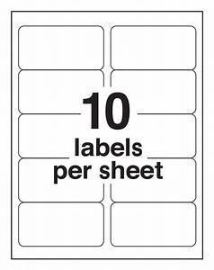 avery 10 labels per sheet template ondy spreadsheet With avery shipping labels 10 per page
