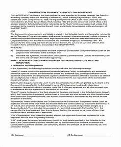 Sample Motor Vehicle Sale Agreement Free 56 Loan Agreement Forms In Pdf Ms Word