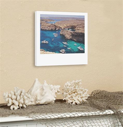 custom polaroid style cotton canvas print  copyright