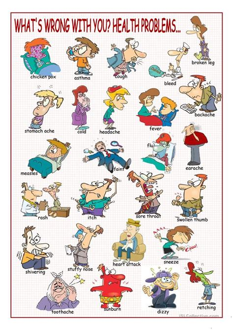 whats wrong   health problems picture dictionary