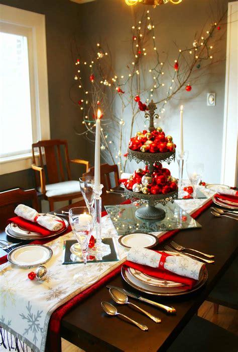 wonderful christmas dinner table settings  merry