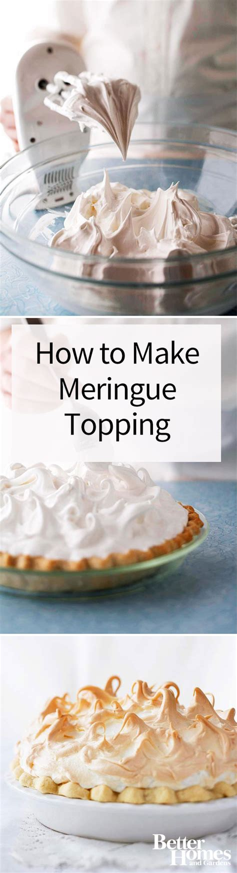 how to make meringue how to make meringue topping for pies