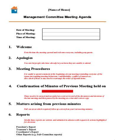 team meeting agenda samples   ms word