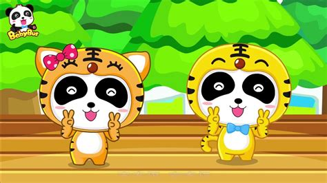 Two Tigers Song + Chinese Kids Nursery Rhyme |baby Panda