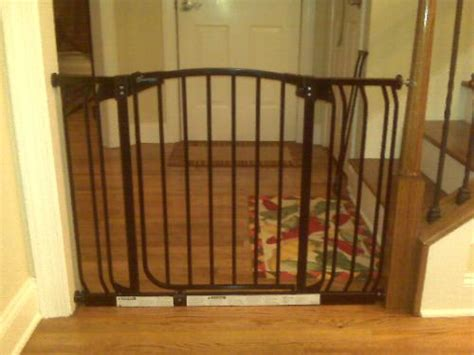 baby gate for banister and wall dreambaby banister gate adaptors silver