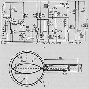 a simple metal detector transistors With gold metal detector schematic on schematics gold detector circuit