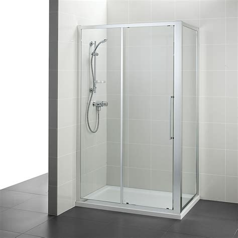kitchen sinks accessories ideal standard kubo 1200mm slider shower door 2976
