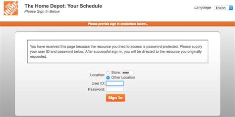 mythdhrcom  home depot employee login