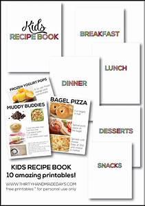 kids recipe book With kids cookbook template