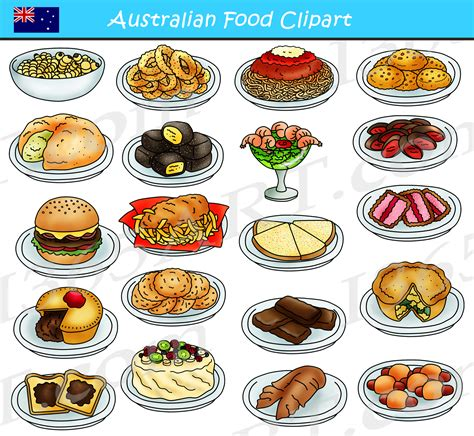 australian food clipart graphics  clipart  school