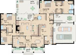Country Style House Floor Plans Country Style House Plans Plan 18 406
