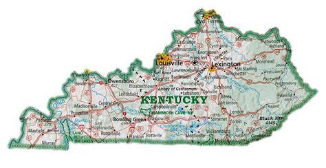 maps kentucky map  cities