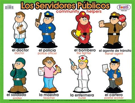 aprendo y me divierto en el preescolar servidores publicos oficios y prefesiones