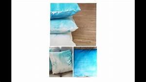 Mit Wasserfarbe Malen : how to mit wasserfarben auf stoff malen diy kissenbezug ~ Watch28wear.com Haus und Dekorationen