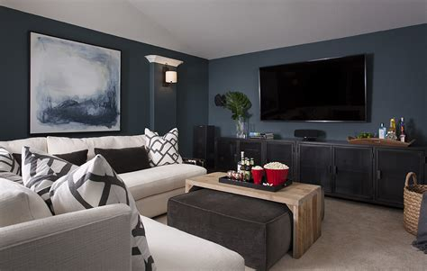furniture sectional couches before after cozy media room home design
