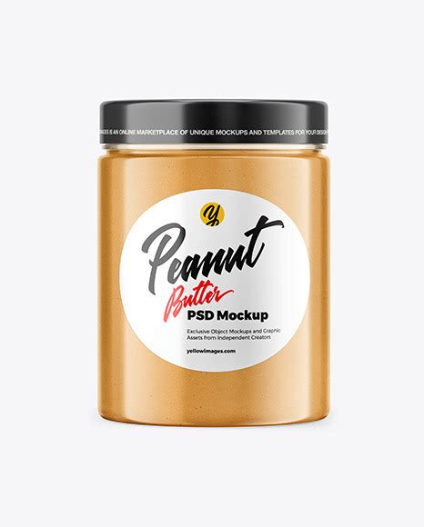 Get free money towards your purchases with creative market credits. Jar with Peanut Butter Mockup in Jar Mockups on Yellow ...
