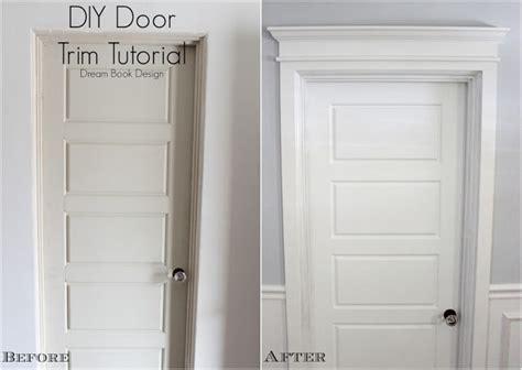 Thrifty Decor Door Trim by Remodelaholic Best Diy Door Tips Installation Framing