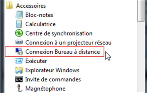 connection bureau à distance bureau à distance ou remote desktop contrôle à distance
