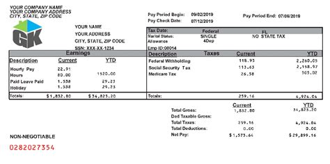 paycheck stubs employment verification proof  income